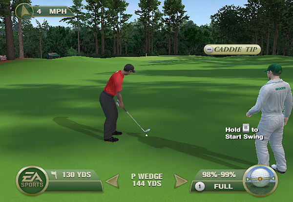 "Play like a true pro with a caddie alongside, assisting and supporting your every swing.  The caddie will evaluate all pre-shot factors, such as wind, lie, and yardage, to provide a recommended shot.  As your caddie's knowledge of each course increases, he will level up through ""Course Mastery,"" making him even more valuable to your success."