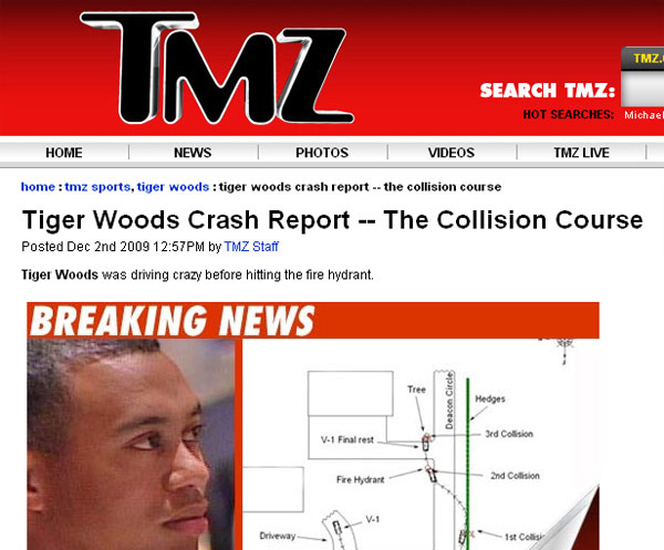 It was clear on Twitter this week that the topic on people's minds was Tiger Woods, whether they came out and said it or not.                        TheChristinaKim What does TMZ even stand for? I hate hearing about other people's lives, private is private. Gossiping to this extent is deplorable (About 5 hours ago)                       Answer: Thirty Mile Zone