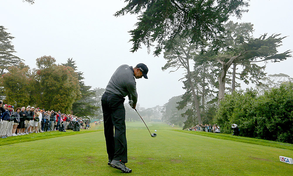 Tiger Woods took to the Lake Course at the Olympic Club Wednesday morning for a final practice round before the U.S. Open begins Thursday.