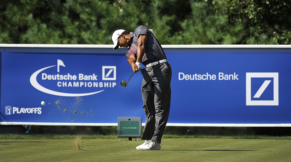 Woods made eight birdies and one bogey for his best opening round in three years.