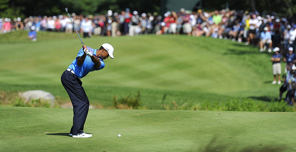 Woods made five birdies and two bogeys on Saturday.