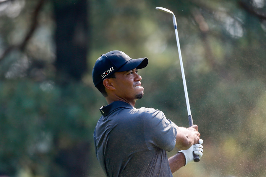"Tiger Woods failed to move into contention after a two-over 72. ""I hit it good, made nothing,"" Woods said."
