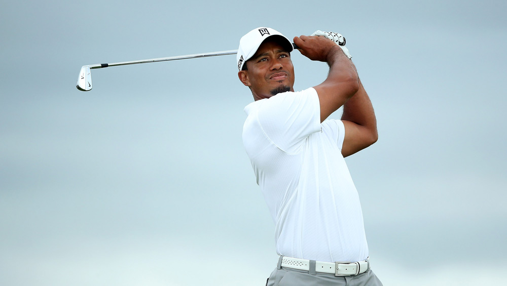 Before thunderstorms rolled in on Tuesday, Tiger Woods got in a practice round at the Ocean Course in Kiawah Island.
