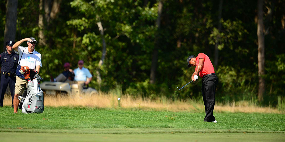 Tiger Woods had an awful day, finishing with a five-over 76.