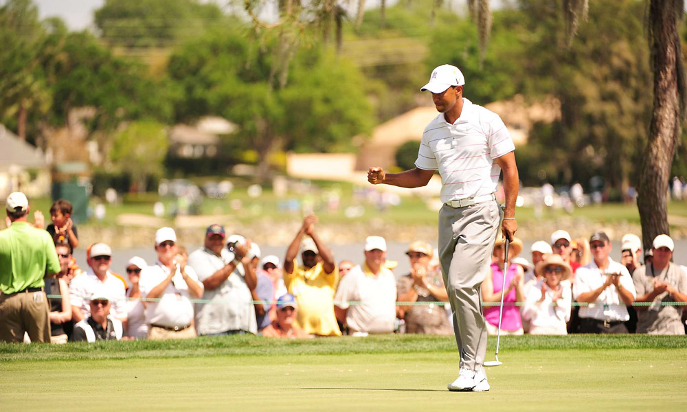 Tiger Woods was locked in on Friday at Bay Hill, making seven birdies and no bogeys for a 65.