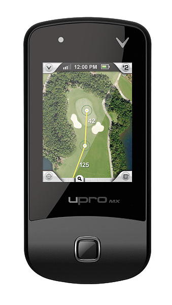 "Callaway upro mx+                           Type: GPS; $249; callawaygolf.com                           Preloaded with 25,000 courses, the device has an easy-to-use color touch screen and digital scorecard that tracks stats. The ""ProMode"" setting displays actual aerial photography (rather than renderings) of a hole for precise video flyovers. Using ""Anypoint"" technology, you simply select a target on the hole and get the yardage to it."