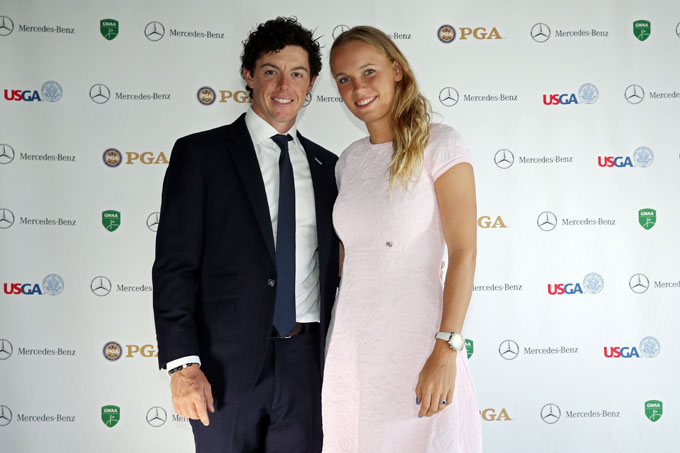 Rory and Caroline both have held the No. 1 ranking in their sports. Here they make an appearance at the Golf Writers Dinner before the 2013 Masters. The Golf Writers named McIlroy the Player of the Year in 2012.