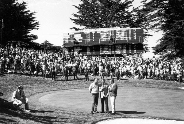 "With nine holes to go, Arnold Palmer was thinking about records, not the 7-shot lead he had over Billy Casper. ""In retrospect,"" says Palmer, ""it was the biggest mental error of my career."" Had Palmer come home in 1-over-par 36, he would have broken Ben Hogan's U.S. Open scoring record of 276. However, bogies at 10, 13, 15, 16 and 17 shaved Palmer's lead to one — and erased any chance he had of beating Hogan's mark. The train wreck subsided with matching pars at the 18th, but the steady, hot-putting Casper dethroned the King in a playoff the next day."