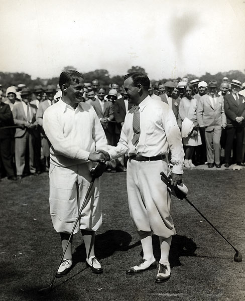 Needing just three bogies and a par over the final four holes to clinch his third Open, Bobby Jones almost pulled a Mickelson when he hacked his way to a triple-bogey 7 at Winged Foot West's 15th hole, then three-putted the 16th from 20 feet. At 18, however, Jones managed to hole a 12-foot left-to-right slider with a foot of break to force a playoff with Espinosa. Ever the gentleman, Jones requested a later Sunday start to the playoff so that Espinosa, who was a devout Catholic, could attend morning church services. After that, Jones conducted a sermon on perfect golf. His scores of 72-69 bested Espinosa by 23 shots.