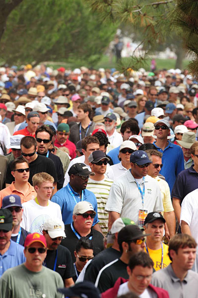 More than 20,000 people filled the South Course to watch the playoff, breaking the record of 11,000 from the 2001 playoff between Mark Brooks and Retief Goosen.