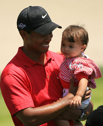 """It means everything,"" Woods said of having his daughter there."