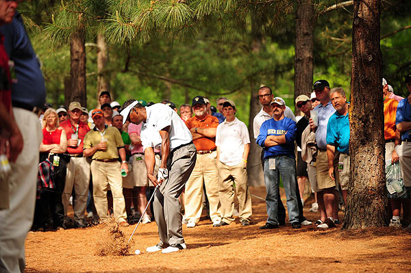Vijay Singh didn't break 70 in any of his four rounds at Augusta.