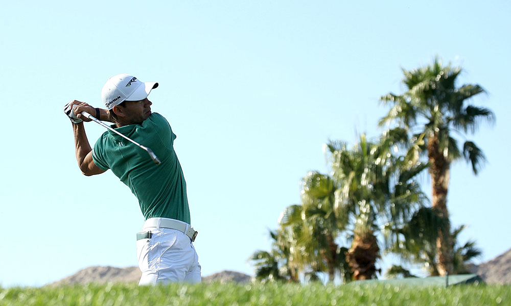 Camilo Villegas is three shots off the lead after a bogey-free 68.