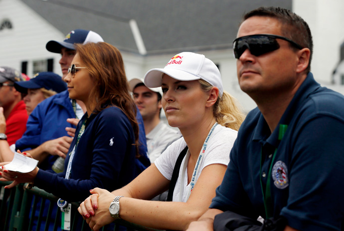 Lindsey Vonn was following Woods on Friday.