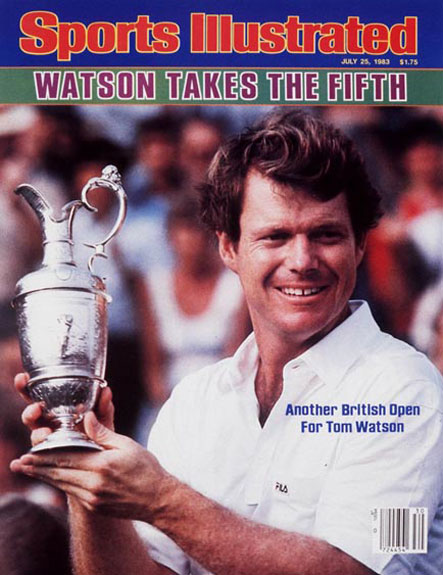 Tom Watson wins the 1983 British Open at Royal Birkdale.