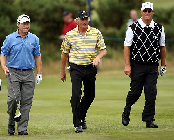 Coming off his British Open disappointment, Watson was grouped with Sandy Lyle and Greg Norman.