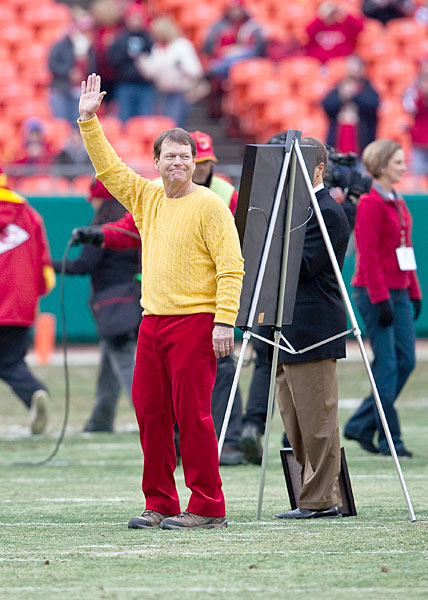 Tom Watson was honored by the Kansas City Chiefs during a game in 2009.
