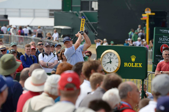 Tom Watson, a five-time Open champion, shot a four-over 75.