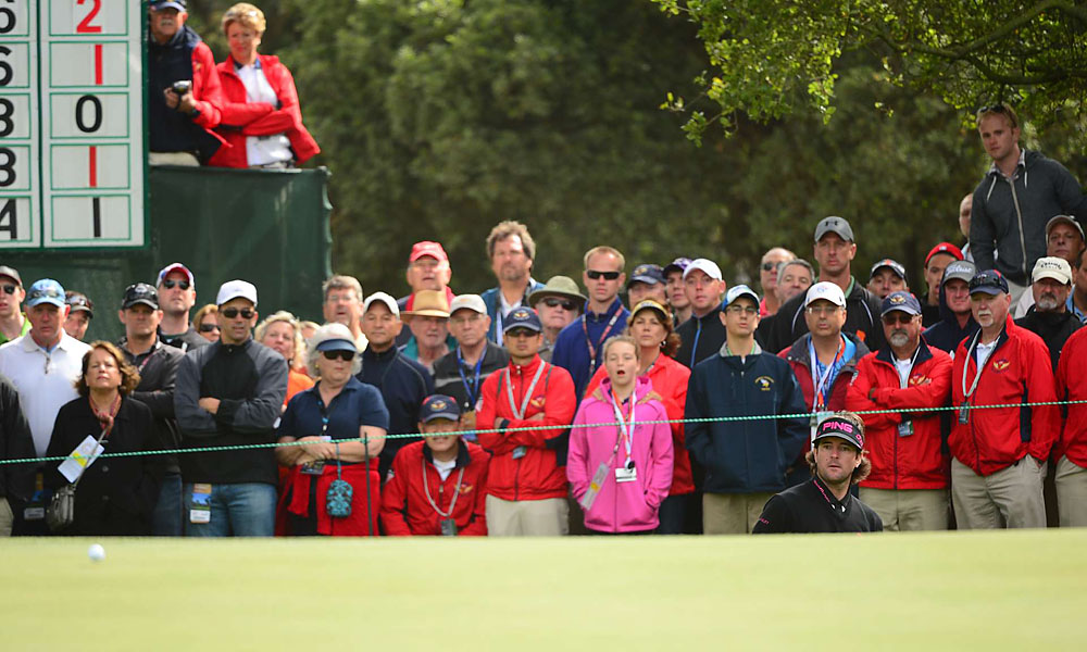 Watson's bomb-and-gouge tactics got him into trouble at Olympic. The Masters champ carded an eight-over 78.