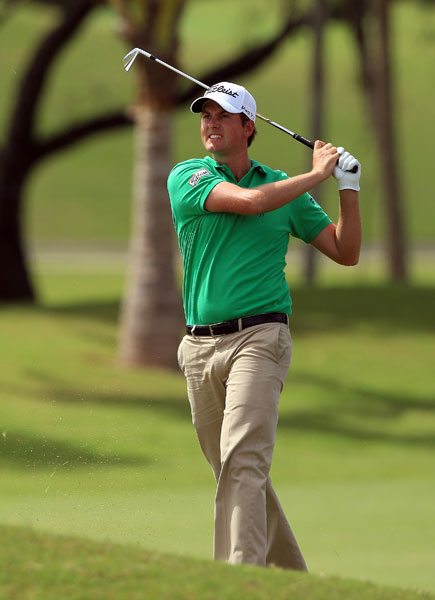 Webb Simpson got into red numbers with a six-under 66.