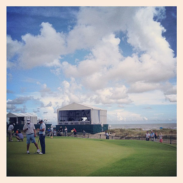 """@StephanieWei: View from the practice putting green...#ocean #clouds"""