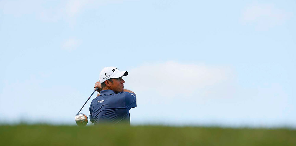Lee Westwood made three birdies, a bogey and a double bogey for a 70.