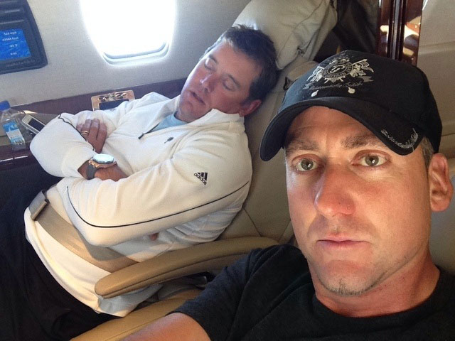 @ianjamespoulter:  Mr @WestwoodLee can't keep his little eyes open anymore. Bless him. Nearly home