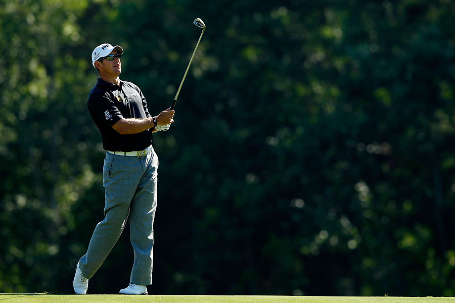 Lee Westwood made five birdies and three bogeys for a 70.