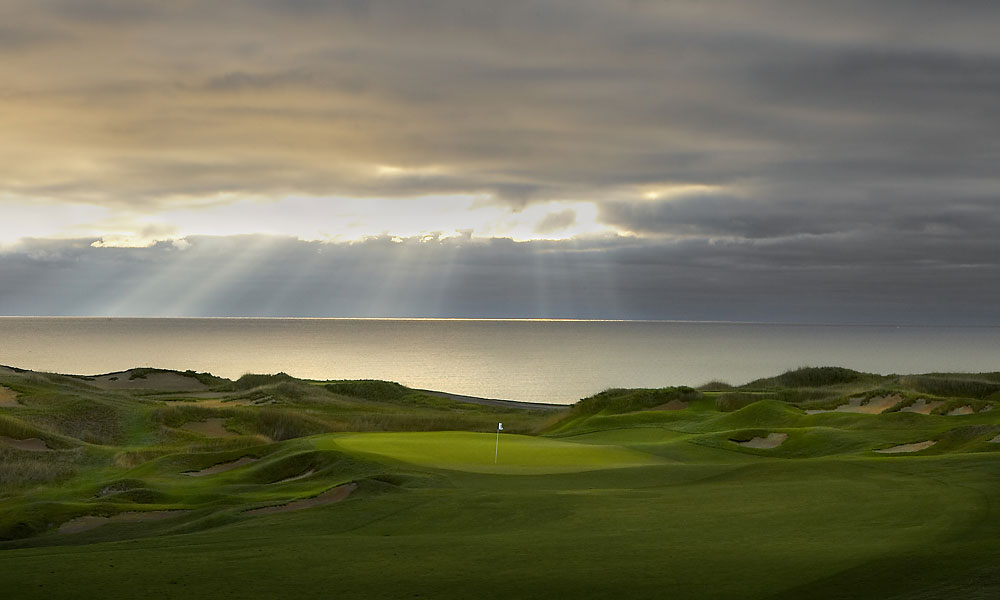 1. The American Club, Kohler, WI; 800-344-2838, americanclubresort.com                       Pair a hotel that's surpassed in the Midwest for dining, service and spa with four of the nation's greatest public-access courses and you've got the region's top-ranked resort. The headliner is its Whistling Straits' Straits course, the faux-Irish, beautiful brute along the shores of Lake Michigan that's twice hosted the PGA Championship. Seventy-foot-tall sandhills cloaked in native fescues, roughly 1,000 bunkers and firm, fast, breeze-fueled conditions make the Straits the next best thing to a trip across the pond. Pete Dye's other three courses, the Irish at Whistling Straits and the River and Meadow Valleys layouts at Blackwolf Run would be standouts anywhere else. The River, in particular, glitters anew, thanks to a recent restoration. With its partly open, partly wooded setting along the Sheboygan River and its spotlight this July as host of the U.S. Women's Open, the River is poised to add another memorable chapter to Kohler's remarkable story.