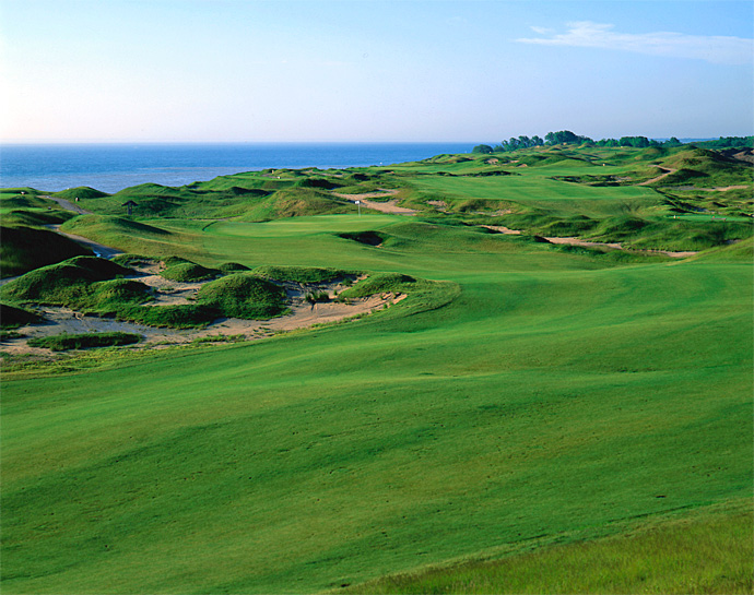 "Whistling Straits (Straits Course)                           Kohler, Wisc.                           americanclubresort.com                                                      Pete Says: ""The raw look of Whistling Straits will shock many country club purists who believe courses should be perfectly manicured and have lush, dark green color."""