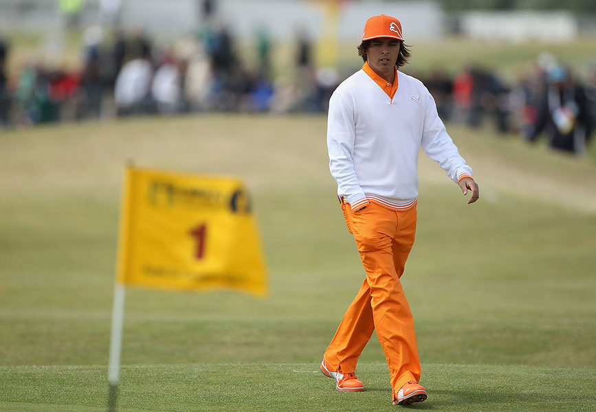 Early on, Rickie favored blazing orange, based on the school colors of his alma mater, Oklahoma State. With a touch of white here and there, he occasionally wandered into creamsicle territory -- but you couldn't miss him.