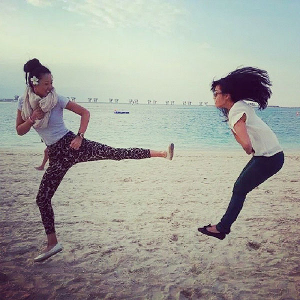 @themichellewiestrong: Reunited with this girl in 24 hours and counting!!! Beyond excited ♥♥♥ #FBF #ninjasinDubai