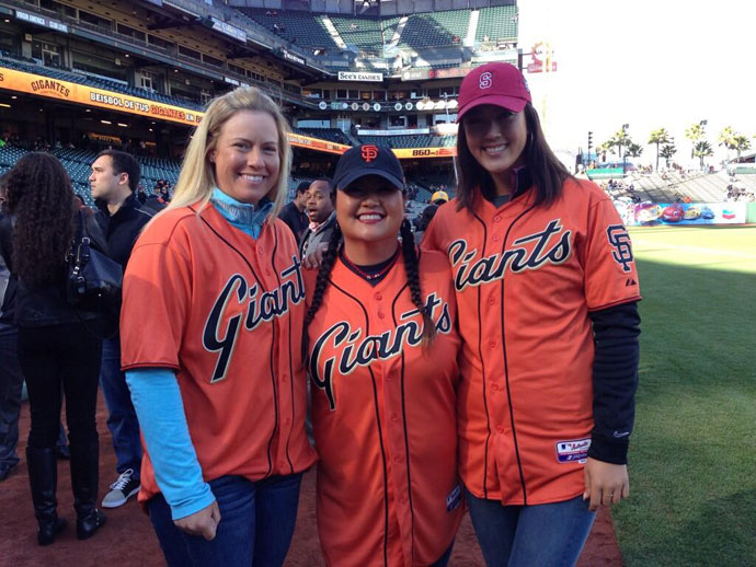 @LPGA: It's #lpga night at the ballpark with @SFGiants...@Brittany1golf, @TheChristinaKim & @themichellewie love AT&T Park!