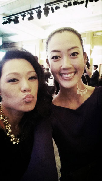 @themichellewie: Sat next to this lovely lady tonight at the #hanabank gala dinner! @TheIreneCho