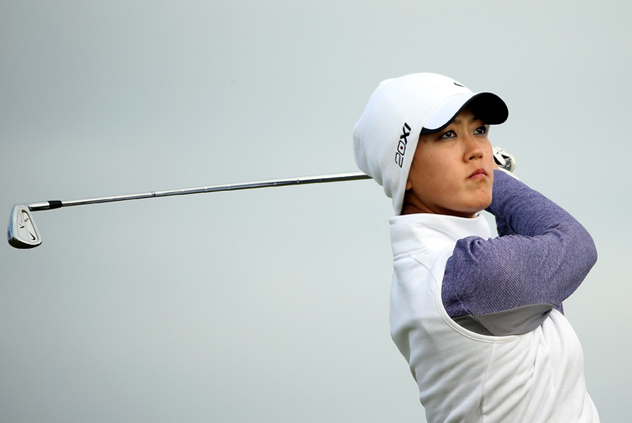 Michelle Wie shot a two-under 70 to easily make the cut.