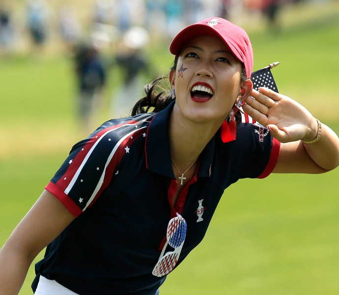 Michelle Wie wants to hear the crowd along the 15th fairway.