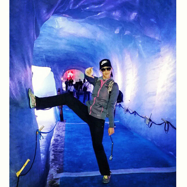 @themichellewie: Awkward ice cave pose #MerDuGlace