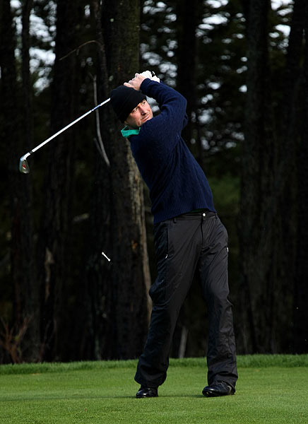 Actor Luke Wilson teed off on the 11th hole on the Poppy Hills course.