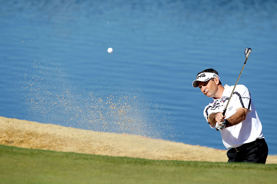 Mark Wilson, who won earlier this year at the Humana Challenge, beat Peter Hanson, 4 and 3.