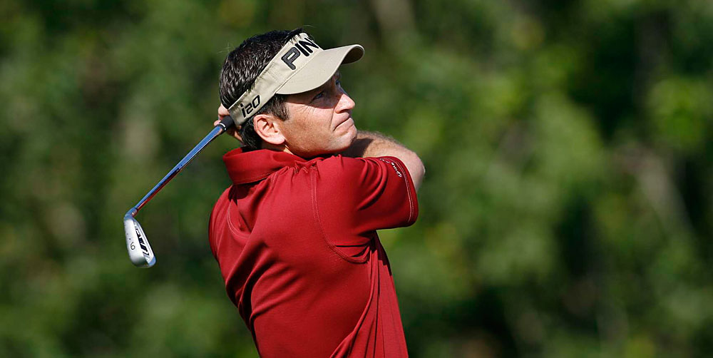 Mark Wilson overcame a triple bogey at the par-3 fifth hole to shoot even par.