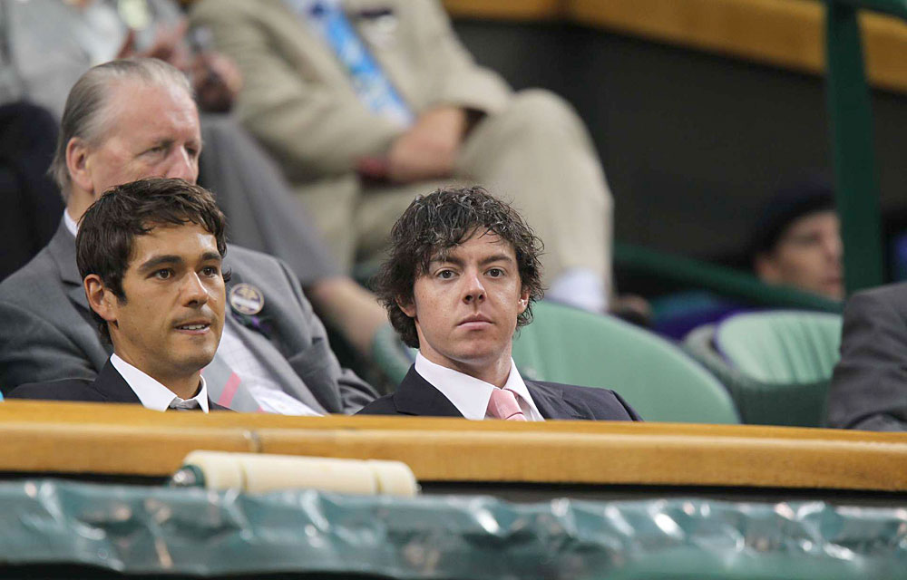 June 28, 2011: Shortly after he won the U.S. Open at Congressional, McIlroy watched Wozniacki from the Royal Box at Wimbledon.
