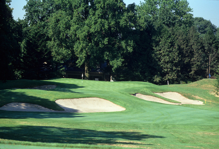 "Winged Foot (West Course) -- No. 10, 190 yards -- Winged Foot, N.Y.                       Ben Hogan called the shot a three-iron ""into some guy's bedroom window."" More specifically, you're hitting to a bunker-ringed green with a narrow opening and a landing area that rises as it widens. It's very nice to look at. But don't just stand there like a peeping Tom."