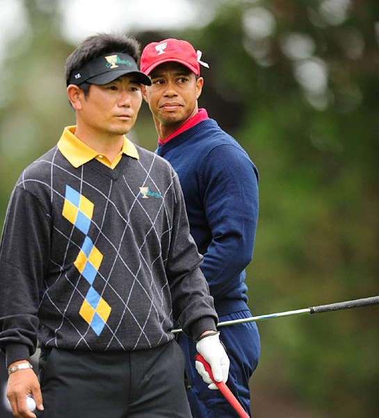 Woods and Yang also dueled at this year's PGA Championship, where Yang pulled off an improbable upset.