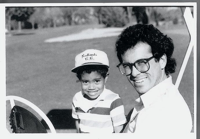 Tiger Woods and his instructor, Rudy Duran.