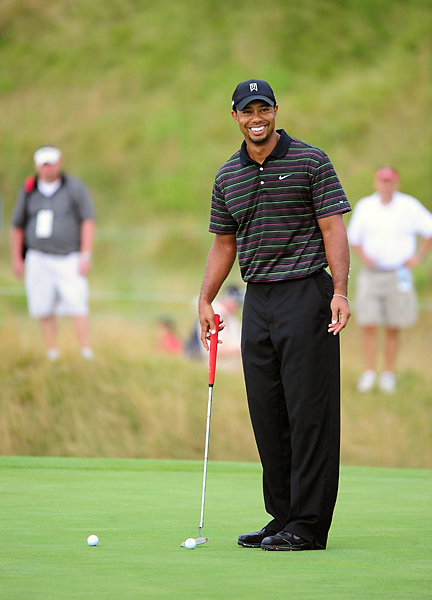 Heading into this week's PGA Championship, Tiger Woods is struggling. He recorded his worst-ever 72-hole score at the WGC-Bridgestone Invitational and finished tied for 78th in the field of 80. He wasted no time preparing for the year's final major, however, playing a practice round Monday at Whistling Straits.
