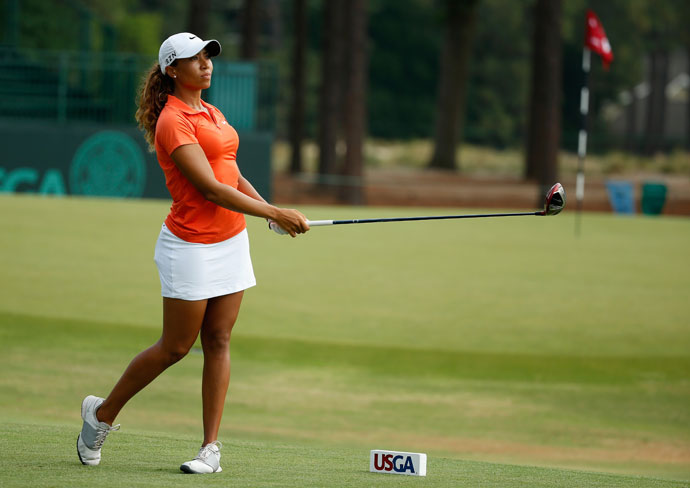 Cheyenne Woods, 25, qualified for the U.S. Women's Open by shooting 73-68 in her qualifier at the Country Club at DC Ranch in Scottsdale, Arizona.