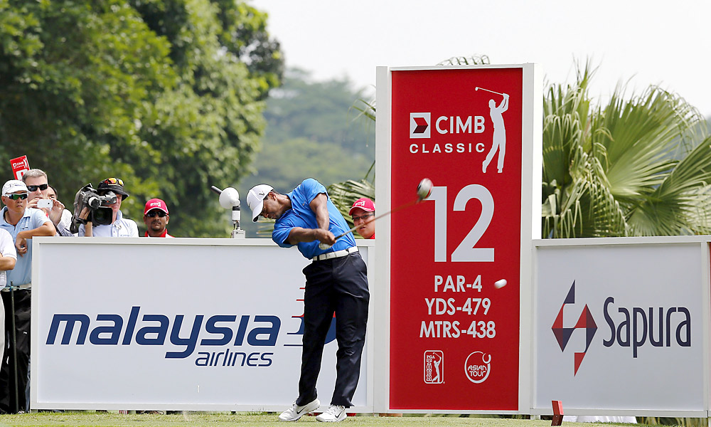 Golf's three major Tours -- the PGA, European and LPGA Tours -- are all in Asia this week. Check out photos of the action from all three tournaments.                           Tiger Woods is playing this week at the CIMB Classic in Malaysia.