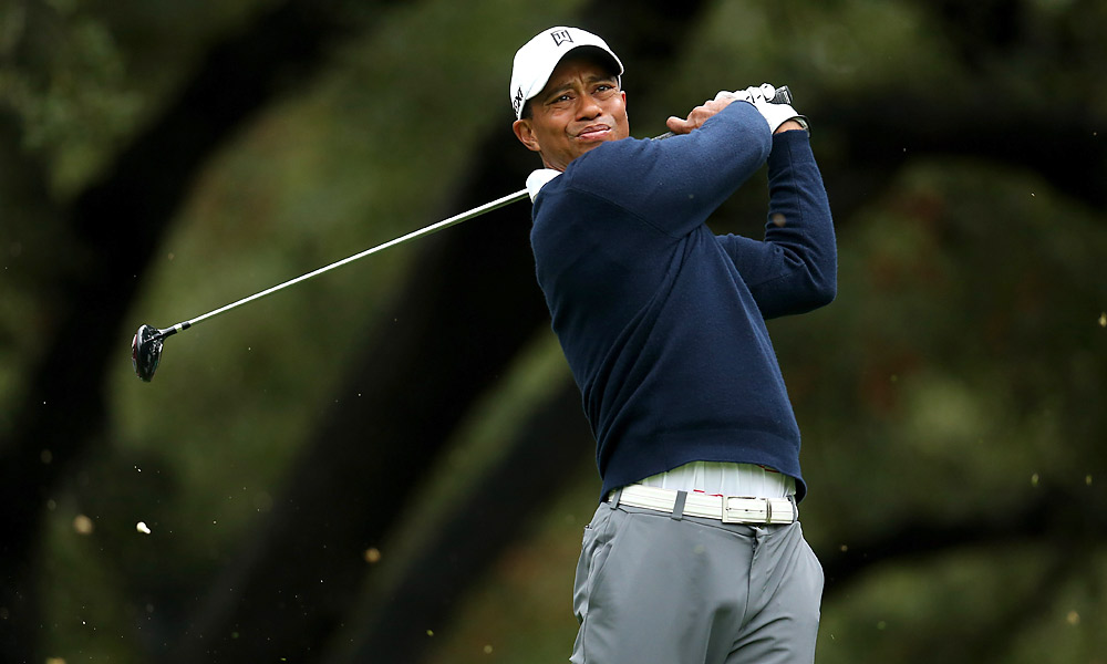 Tiger Woods shot a two-under 70 in the first round of the 2012 World Challenge.
