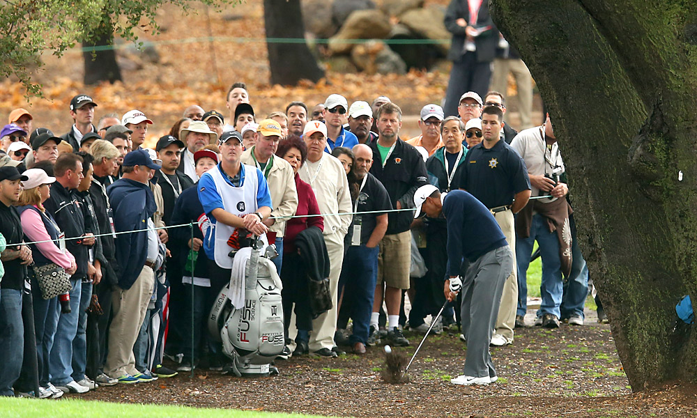 Woods is the defending champion this week.