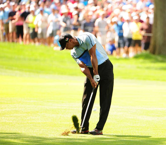 Tiger Woods opened the PGA Championship with a disappointing one-over 71.